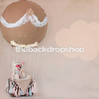 Teddy Bear in Hot Air Balloon Backdrop - Item 1977