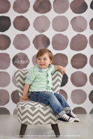 Black and Gray Watercolor Dots Photography Backdrop - Painted Dots - Gender Neutral Photo Backdrop - Exclusive Design! - Item 2010