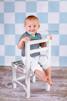 Newborn Blue Tile Floor Backdrop - Item 2013