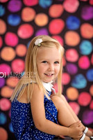 Newborn Bright Color Dots Photo Backdrop - Item 2041