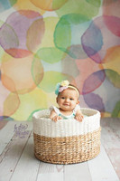 Childs Rainbow Watercolor Dots Photo Backdrop - Item 2042