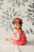 Grey Watercolor Flowers Backdrop - Item 2054