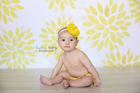 Yellow Watercolor Floral Backdrop - Item 2055