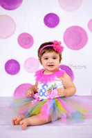 Girls Watercolor Pink and Purple Dot Backdrop - Item 2080