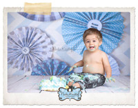 Boys Paper Pinwheels Buttons Backdrop - Item 2095