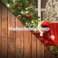 Dark Wood Floor / Christmas Tree- Item 1111 & 1757