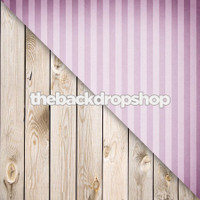 Lavender Stripe / White Wood - Items 1397 & 157