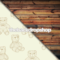 Teddy Bear / Dark Wood Floor - Items 1441 & 384