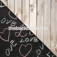 Chalkboard Backdrop / Weathered White Wood - Items 1574 & 157