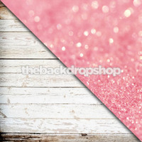 Pink Glitter Backdrop / Weathered White Wood - Items 1754 & 1806