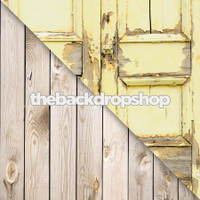 Painted Yellow Shutter Doors / White Plank Wood Floor - Items 630 & 157
