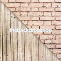 Pink Brick Wall / Whitewashed Wood Floor - Items 793 & 158