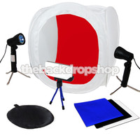 "16"" Photography Light Tent Backdrop Kit - 40cm Cube Lighting In A Box - Photography Studio Equipment"