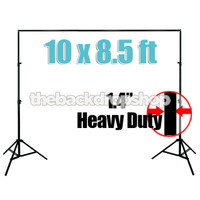 "1.4"" Photography Backdrop Support Aluminum Stand for Canvas Background - Heavy Duty"