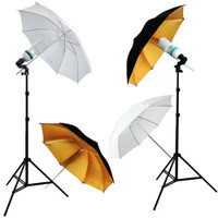"600W Light 33"" Umbrellas Video Photography Lighting Lamp Kit"