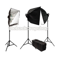 3000W Photo Studio Lighting Softbox Video Light Kit and Carry Case - Photography Studio Equipment