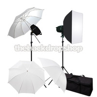 360W Photo Studio JS Flash Lighting Umbrella Softbox Light Kit JFK120