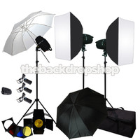 Photo Studio Lighting Flash Light Kit Umbrella Softbox Kit JFK121