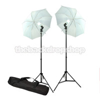 "33"" Photo Studio Soft Umbrella Continuous Lighting Kit  with 2 Video Photography Light"