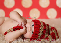 Christmas Photography Backdrop - Red and Gold Glitter Dot Backdrop - Polka Dots - Exclusive Design - Item 2127