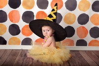 Halloween Photography Backdrop - Orange and Black Dots Photo Background - Holiday Back Drop - Exclusive Design - Item 2136