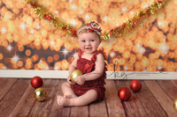 Gold Sparkle Bokeh Backdrop - Christmas Lights Photo Background - Holiday Twinkle Lights Photography Back Drop - Item 2140