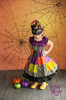 Halloween Backdrop - Spider Web Photo Background - Holiday Back Drop - Item 2142