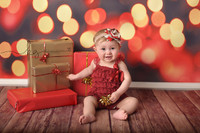 Red Bokeh Backdrop - Christmas Lights Back Drop - Twinkling Lights Photography Background - Holiday Sparkles - Item 2143
