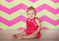 Chevron Photo Background - Zig Zag Backdrop - Pink and Green - Item 1263