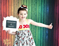 Rainbow Wood Floor for Photos - Colored Wood Backdrop for Photography - Kid's Photography Prop - Vinyl - Item 1535