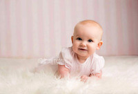 Light Pink Stripe Photography Backdrop - Girls Backdrop for Photos - Newborn Baby Photo Backdrop - Exclusive Design - Item 1946