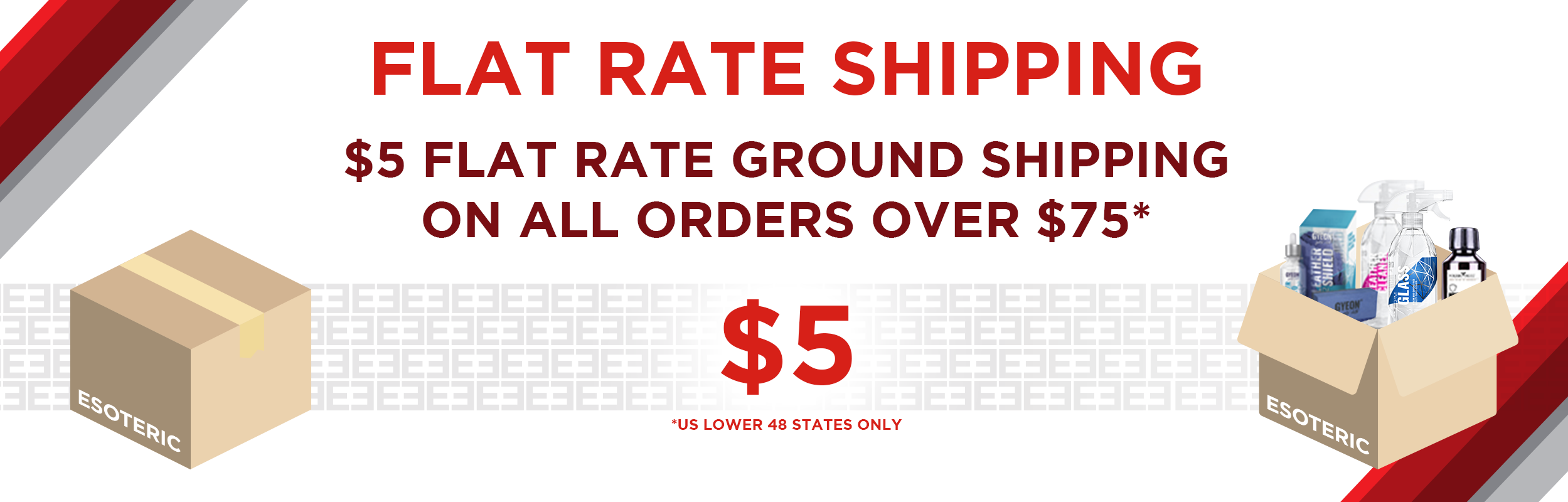 Esoteric Flat Rate Shipping