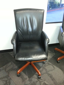 6 TAYLOR LEATHER EXECUTIVE CONFERENCE CHAIRS