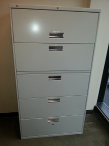 7 USED HON 36W 5 DRAWER LATERAL FILES