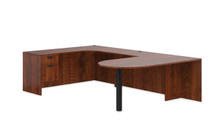 ADC AMERICAN DARK CHERRY - U SHAPED DESK SET WITH PENINSULA TABLE