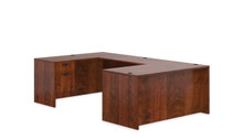 ADC AMERICAN DARK CHERRY - U SHAPED DESK SET