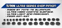 Titan 64dp Aluminum Pinion/Ultra Series (22T-38T)