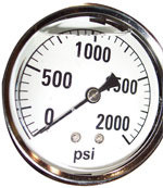 Water Pressure Gauge, 2000 psi, PT063