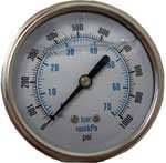 Hydramaster: Water Pressure Gauge, 1000 psi, Truck mount, PHY074-003
