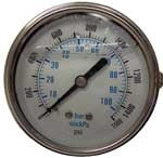 Hydramaster: Water Pressure Gauge, 1500 PSI, Truck mount, PHY074-007
