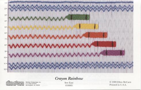 Crayon Rainbow Smocking Plate by Ellen McCarn