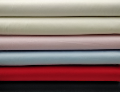 Pima sheen sateen 100% cotton in white, Ivory, Pink, Blue, Red and Navy 112 cm wide