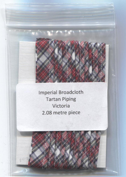 Ready to Sew Tartan piping in Victoria - 2.08 metre piece
