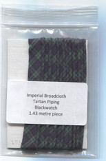 Ready to Sew Tartan piping in Blackwatch 1.43 metre piece