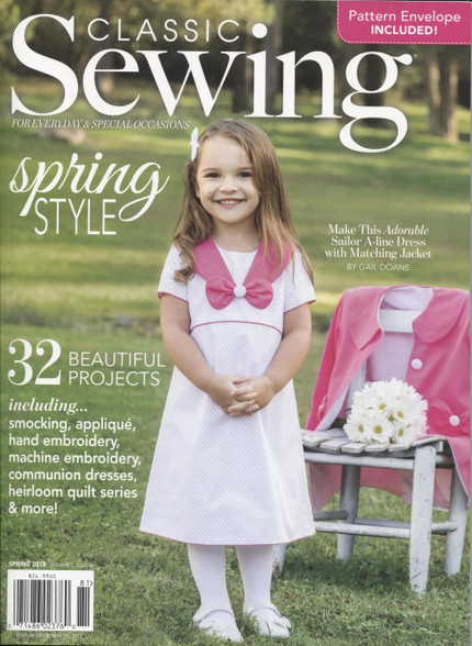Classic Sewing magazine Spring 2018 - full of smocking designs and more