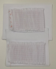 Pre-pleated doe skin twill for smocking, two sizes 9 rows pleated for 7 rows smocking and 11 rows pleated for 9 rows smocking both come with additional fabric for collars and cuffs