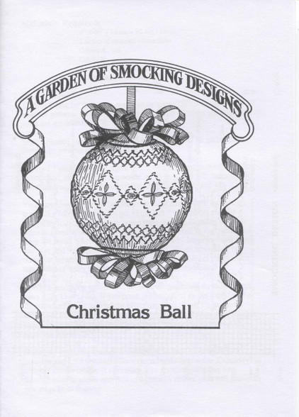 Smocked Christmas Ball instruction by A Garden of Smocking