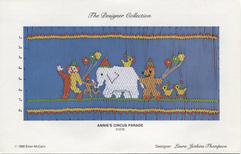 Annie's Circus Parade Smocking plate by Ellen McCarn