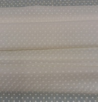 Swiss voile in cream with cream cut spot 138 c wide 100% cotton - priced per metre