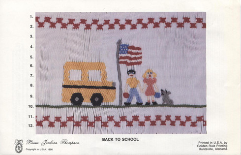 Back to School smocking plate by Laura Jenkins Thompson